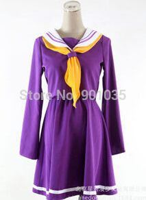 FREE SHIPPING No Game No Life Sailor Suit Purple Halloween Costume School Uniform Girls Dress #Sailor Halloween Costumes http://www.ku-ki-shop.com/shop/sailor-halloween-costumes/free-shipping-no-game-no-life-sailor-suit-purple-halloween-costume-school-uniform-girls-dress/