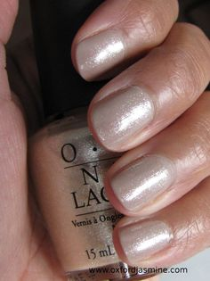 OPI Up Front and Personal - my favorite daily nail polish. Can go from almost clear, with just a hint of shimmer (1 coat) to almost completely opaque with 3 coats.