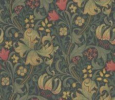 I could look at the living and dining room wallpaper for hours and always find something new in the patterns.