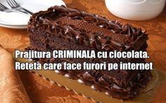 Prajitura CRIMINALA cu ciocolata. Reteta care face furori pe internet
