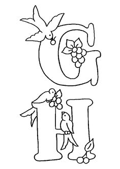 Alphabet Oiseaux G H, page 30 sur 38 sur HugoLescargot.com