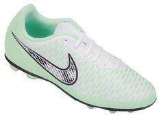 Nike Magista Ola FG Girls' Soccer Cleats mint combo - White/Chrome/Vapor Green/Magenta Item #72313