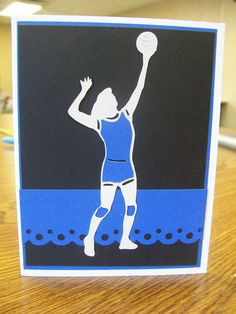 Volleyball Cricut Card using Sports Mania Cricut Cartridge