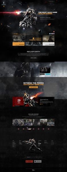 Pin by Tsnake on 游戏网页 Website Layout, Web Layout, Layout Design, Best Web Design, Page Design, Photoshop Web Design, Template Web, Desktop Design, Page Web