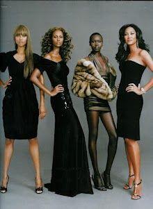 Shut. It. Down. Tyra Banks, Iman, Alek Wek, and Kimora Lee Simmons *whispers* Where is NayNay?