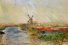 Claude Monet Tulip Field in Holland print for sale. Shop for Claude Monet Tulip Field in Holland painting and frame at discount price, ships in 24 hours. Monet Paintings, Impressionist Paintings, Landscape Paintings, Floral Paintings, Impressionism Art, Pierre Auguste Renoir, Camille Pissarro, Claude Monet Tableau, Artist Monet