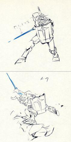Drawing Sketches, Drawings, Drawing Ideas, Japanese Robot, Gundam Art, Art Story, Gundam Model, Mobile Suit, Art Studies