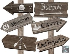 #harrypotterparty Harry Potter Party Signpost Wizard Sign Post  party decoration birthday party