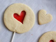 Stained Glass Heart Cookies on a Stick for Valentines Day