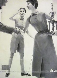 Vintage 1954 Sloat & Co. Ladies Golfing Fashion
