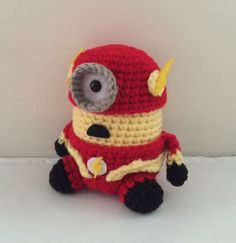 The Flash Minion PDF Pattern Crochet for Amigurumi Doll Plush (4.75 USD) by JAMigurumi