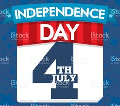 Patriotic Loose-leaf Calendar with Ribbon for U. American Independence, Independence Day, Happy 4 Of July, Free Vector Art, Image Now, Celebration, Calendar, Ribbon, Illustration