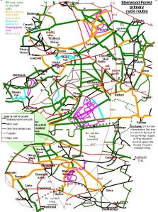 Sherwood Forest cycling routes