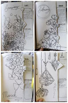 January Bullet Journal, Bullet Journal Cover Page, Bullet Journal Notebook, Bullet Journal School, Bullet Journal Spread, Bullet Journal Ideas Pages, Journal Covers, Bullet Journal Inspiration, Bullet Journals