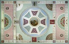 A Robert Adam ceiling with classical motifs in plasterwork and painting in oil on canvas-backed paper (1771). Image: Victoria and Albert Museum  Elegant and evocative, neoclassical style has timeless appeal. Check out our period style guide and get the look at home.
