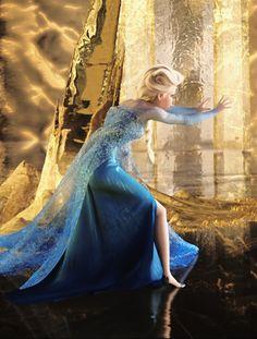 Elsa defending herself against the Duke's guards.