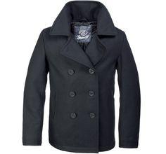 Brandit Classic Us Navy Pea Coat Warm Mens Marine Army Reefer Wool Jacket Black Navy Pea Coat, Black Pea Coats, Pea Coat Men, Tv Mode, Caban Bleu Marine, Army Clothes, Black Clothes, Colani, Mens Wool Coats