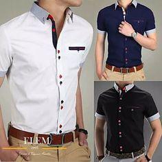 Camisas Sport Hombre Elegante Fit Slim Mod019 - U$S 49,99