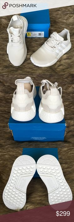 LV X adidas NMD R1 Brown White Gold BA7789 Outlet Sale New .