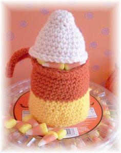 Candy Corn Treat Pouch....Free #crochet pattern