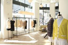 Dig that yellow cardigan by Kitsune. Can't wait to see this store in July when I'm in NYC.