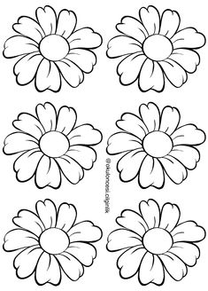 Fabric Painting Tutorial: In this particular tutorial we'll provide you with utilizing Country Chic Colouring Pages, Coloring Sheets, Coloring Books, Paper Flower Patterns, Paper Flowers, Flower Template, Handmade Flowers, Fabric Painting, Fiber Art