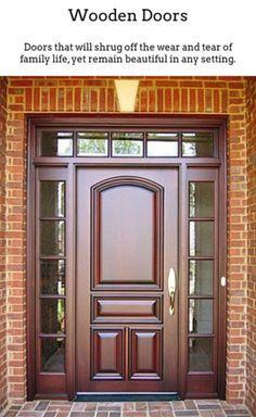 35 Best Front Door Design Wood Images In 2020 Door Design Front