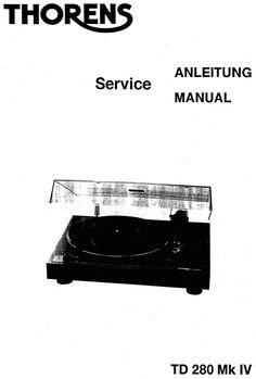 thorens td 126 mk2 turntable service manual in english. Black Bedroom Furniture Sets. Home Design Ideas