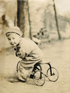 Its easy to imagine how much he loved the tricycle and to see his little legs pushing the peddles as fast as he could