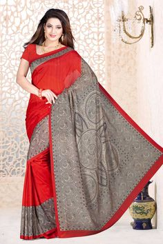 Indian Designer Maroon with Cream Crepe Sarees are now in store presents by Andaaz Fashion with price $38.54. Embellished with printed work and Maroon Crepe Short Sleeve Blouse. This is perfect for party wear, wedding, festival wear, casual, ceremonial. http://www.andaazfashion.us/maroon-with-cream-crepe-saree-and-maroon-blouse-dmv7890.html