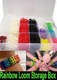 Rainbow Looms Rubber Band Accessory Storage Box