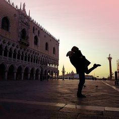Crazy kissing in Venice Italy Piazza san Marco We arehellip