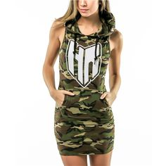 Camo hoodie dress one of the best items in our Spring 20016 Collection. Camo Hoodie, Hoodie Dress, Dress First, Women Empowerment, Passion For Fashion, Dresses For Work, Hoodies, Clothes For Women, Lady