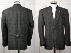 Vintage Trachten Jacket, Austrian Tyrol Gun Club Check Blazer w Faux Antler Buttons, Bavarian Octoberfest Janker Jacket: Size 42 US/UK by YouLookAmazing on Etsy