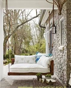 lovely take on porch swing