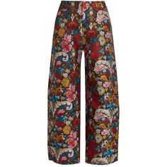 Marques'Almeida Wide-leg brocade trousers ($510) ❤ liked on Polyvore featuring pants, multi, floral wide leg pants, polka dot pants, wide leg pants, high-waisted trousers and colorful pants