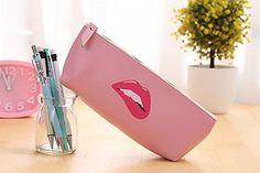 Funnylive Sweet Girl Stationery  Pu waterproof Handbag Pen Bag Pink 2 >>> You can find more details by visiting the image link.