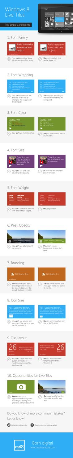 Top 10 most common design mistakes for Windows 8 Live Tiles
