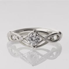 Celtic Engagement Ring Platinum engagement ring by doronmerav