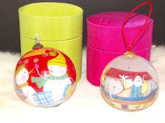 Snowman And Noah's Ark Collectible Glass Christmas Ornaments   | eBay