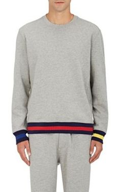 SLEEPY JONES Cotton-Blend French Terry Sweatshirt. #sleepyjones #cloth #sweatshirt