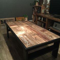 DIYやってると 端材ドンドンたまりませんか? そんな端材を使ってローテーブルを作りました♪ もっと見る