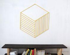 20 DIY Geometric Wall Art Decorations for a Vivid Modern Touch Stick Wall Art, 3d Wall Art, Geometric Wall Art, Diy Wand, Diy Wall Decor, Diy Bedroom Decor, Bedroom Office, Wall Decorations, Home Decor