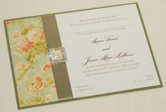 Beautiful Wedding Invitations by Lilylou & You - Single Sided Wedding Invites