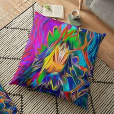 Digital abstract art, floor pillow and other great home decor items #arankaarts #digitalart #abstractart #redbubble #findyourthing #floorpillows #homedecor Floor Pillows, Throw Pillows, Light Art, Home Decor Items, Abstract Art, Digital Art, Artist, Toss Pillows, Cushions