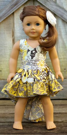 Hope's Doll Size Hi-Low Dress PDF PatternDress PDF Pattern | Sewing Pattern | YouCanMakeThis.com