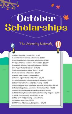 Here is a selected list of October Scholarships on The University Network. Scholarships For College, College Students, College Application, Business Women, Finding Yourself, University, October, Education, United States