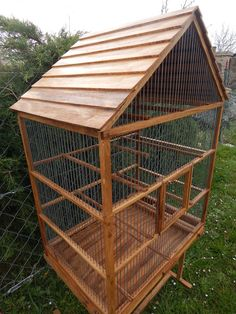 Bird Cage Wooden Handmade by birdworld77 on Etsy