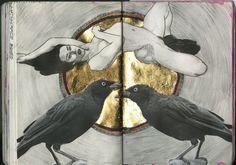 https://flic.kr/p/ihf25j   art journal 8 155-156   tried to draw Stoya >: