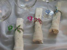 Identificadores de copas vidrios con servilleteros